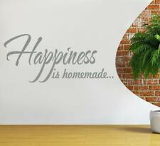 HAPPINESS IS HOMEMADE Quote Decal Vinyl WALL STICKER Art Home Decor SQ1005