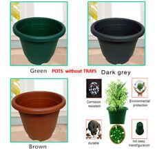 Garden Home Office Plastic Plant Flower Pot & saucers 2 SIZE