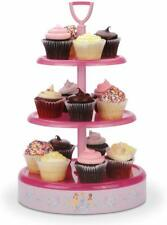 Disney Princess Pink Lazy Susan 3-Tiered Serving Rotating Dessert Cupcake Tray