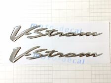 New 3D Raised Chrome Suzuki Vstrom DL650 1000 Sticker Emblem Fairing Decal Bling