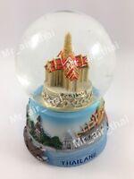 Vintage Snow Globe Water Art Glass Paper Weight 3D Resin Thai Souvenir Gift 004