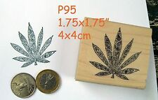 P95 Decorative marijuana leaf rubber stamp