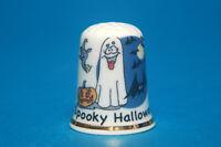 Spooky Halloween China Thimble  B/174