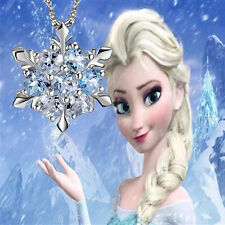Made With SWAROVSKI Crystal Frozen Princess ELSA Snowflake Necklace with Chain