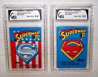 Topps 1980 Superman II & 1983 Superman III WAX PACKS-GAI 9.5 Gem Mint