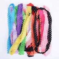 10PCS New Girl DIY Baby Hair Bands Elastic Lace Headband Hair Accessories