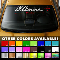 EL CAMINO Premium Windshield Banner Vinyl Decal Sticker for CHEVY CHEVROLET SS