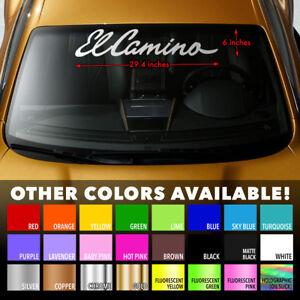 EL CAMINO Premium Windshield Banner Vinyl Decal Sticker for CHEVY CHEVROLET SS