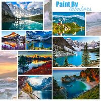 Mountain Handpainted Design Paint By Numbers Oil Painting DIY Canvas Kit 50x40cm