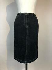 Women's PLEIN SUD Charcoal/Black Knee Length Denim Skirt Size 8