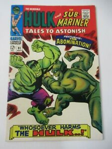 Tales to Astonish 91 2nd appearance Abomination 1st cover 1967 Silver Key VF/NM