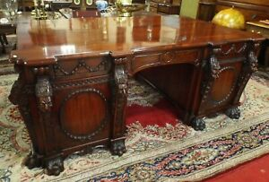 MAGNIFICENT MAHOGANY NOSTELL PRIORY THOMAS CHIPPENDALE INSPIRED PARTNERS DESK