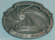 Belt Buckle PEWTER BOEING Electronics Building Corinth Texas