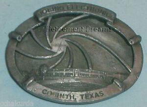 Siskiyou Belt Buckle PEWTER BOEING Electronics Building Corinth Texas
