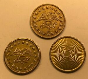 Lot of Three Different Car Wash/Game Tokens, Circulated