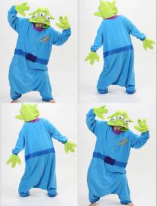 Unisex Fancy Dress Costume Toy Story Aliens Alien cosplay Onesie10 Sleepwear F1
