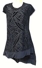 plus sz S / 16 TS TAKING SHAPE Night Of Day Velour Top soft stretchy luxe NWT!