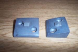 2 NOS CHEVROLET,PONTIAC,BUICK 1939-48 2-HOLE DOOR LOCK STRIKER PLATES #4131103
