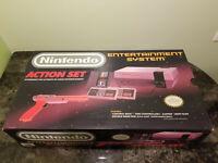 Nintendo NES Action Set Console Complete In Box CIB NICE!