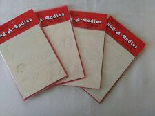 New Old Stock Hug-A-Bodies Crafts Large -Set of 4- Lamb, Racoon, Bunny & Cat