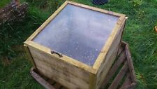 Handmade to Order Wooden Cold Frame with Glass Top