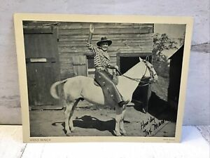 Tex Mason H-BAR-O Rangers Radio Club 1930s Litho Photo