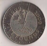 1999-£5 coin-ANNO DOMINI.