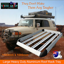 1.6 x 1.0m LARGE ALUMINIUM CAR 4WD SUV UNIVERSAL ROOF RACK CARGO BAGGAGE CARRIER