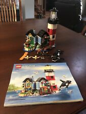 LEGO Creator Lighthouse (31051) Complete Set. Light Brick Included W/ New Batt.