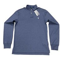Ralph Lauren Men's Custom Slim Fit Pima Cotton Polo Shirt In Blue Size S