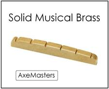 USA MADE AxeMasters BRASS NUT made for Fender VI / 6 String Bass Guitar