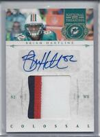 BRIAN HARTLINE 2011 NATIONAL TREASURES COLOSSAL JUMBO 3 COLOR PATCH AUTO #D /25