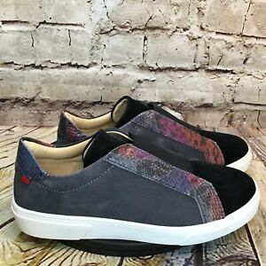 Marc Joseph Womens Snake Print Accent Slip On Casual Dress Sneakers Size 5
