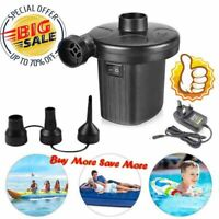 Electric Air Pump Inflator for Inflatables Camping Bed pool 240V 12V Car 2020