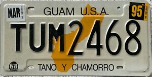 GENUINE Pressed Guam USA Tano Y Chamorro Licence License Plate TUM 2468