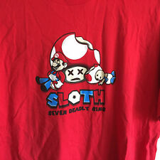 Video Game Gaming Super Mario Bros Mario & Toad 7 Seven Deadly Sins T Shirt L