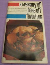 Vintage Cook Book A Treasury of Bake off Favorites 1969 Pillsbury