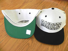 OAKLAND RAIDERS NFL VINTAGE SNAPBACK RETRO 2-TONE CAP HAT NEW! WHT/BLK