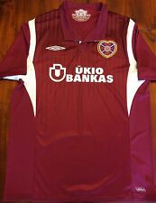 Umbro HEART OF MIDLOTHIAN 2009/10 Home Soccer Jersey L Football Shirt Scotland