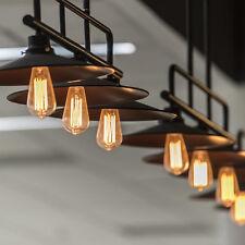4x E27 60W Dimmable Edison Filament Light Bulb Lamp 110V Warm Tungsten USA
