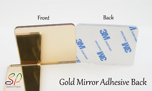 Gold Mirror with Adhesive Back 3mm  Acrylic Mirror