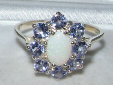 Tanzanite Cluster Natural Sterling Silver Fine Rings