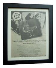 CHICAGO+V+Saturday In The Park+POSTER+AD+ORIGINAL 1972+FRAMED+FAST GLOBAL SHIP