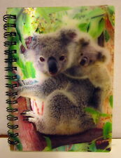 """HIGH DEFINITION 3D """"KOALA WITH JOEY"""" SPIRAL NOTEBOOK WITH 100 PLAIN PAGES!"""