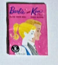 Vintage Mattel Barbie And Ken Doll Mini Fashion Booklet, Original, 1962, Japan!