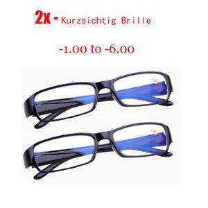 2x Kurzsichtig -1.0 to -6.0 Anti Blu-Ray Lenses Fernbrille Leser Sehhilfe Brille