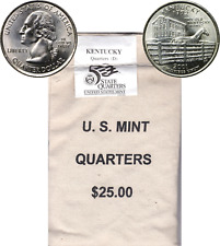 2001 D Kentucky $25 Dollar Face Statehood Quarter Mint Sewn Bag