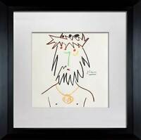 "Pablo PICASSO Lithograph  ""CJC"" Ltd. Edition. SIGNED Cat. ref. c116 w/Frame"