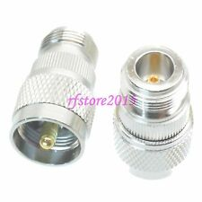 1pce Adapter Connector UHF PL259 male plug to N female jack for Vehicle antenna