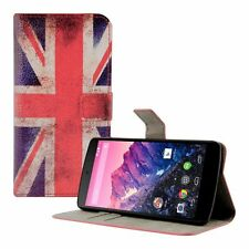 CUSTODIA LUXURY A LIBRO PORTAFOGLI FLIP COVER per NEXUS 5 UK inglese vintage